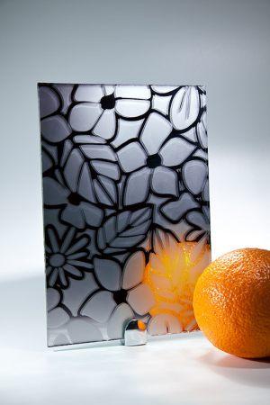 "Зеркало ""Цветы"" графит Анапа"