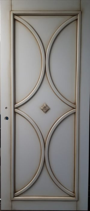 Межкомнатная дверь в профиле массив (эмаль с патиной) Анапа