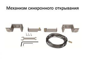 Механизм синхронного открывания для межкомнатной перегородки  Анапа