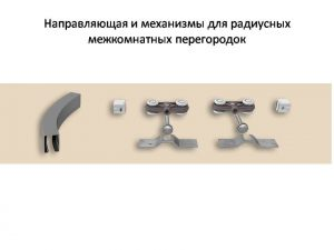 Направляющая и механизмы верхний подвес для радиусных межкомнатных перегородок Анапа