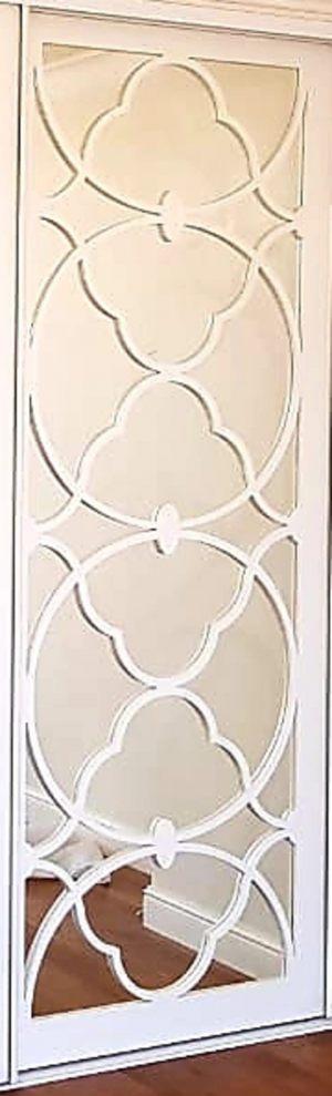 Вставка с фигурной филенкой на зеркале эмаль Анапа