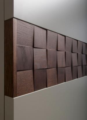 Вставка в двери с накладными квадратами шпон Анапа